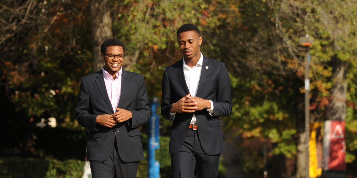 Two Male Students on Campus